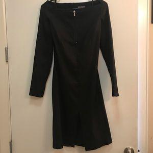 Versace Off The Shoulder Black Dress